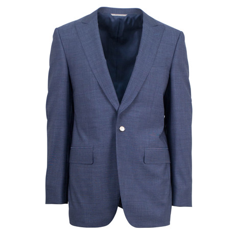 Canali // Stretch Wool Blend Slim Fit Suit // Blue (US: 46S)