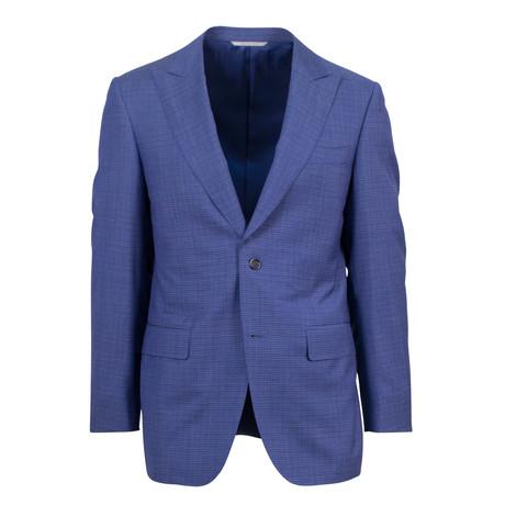 Canali // Wool Peak Lapels Trim Fit Suit // Blue (US: 46S)