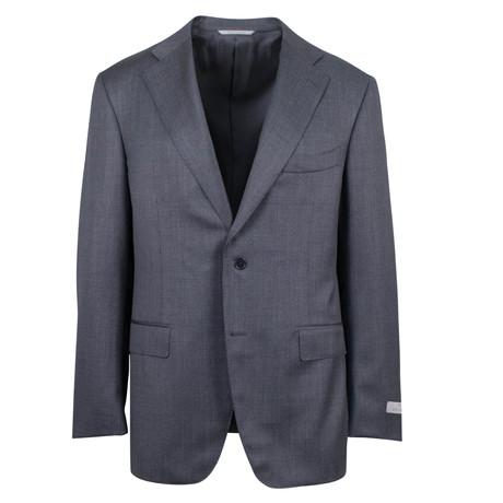 Canali // Birdseye Wool Slim Fit Suit // Gray (US: 46S)