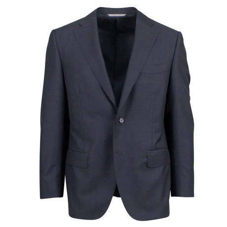 Canali // Travel Wool Portly Fit Suit // Black (US: 46S)