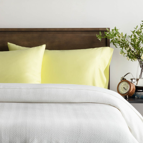 Rayon Bamboo Sheet Set // Citron (Queen)
