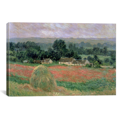 """Haystack at Giverny, 1886 (18""""W x 12""""H x 0.75""""D)"""
