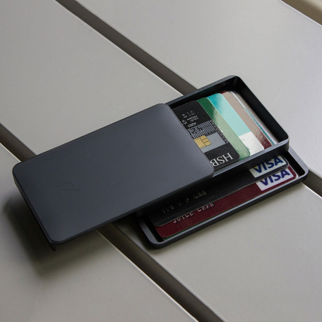 Zenlet 2+ Wallet // RFID Blocking Tray + Horizontal Compartment (Space Gray)