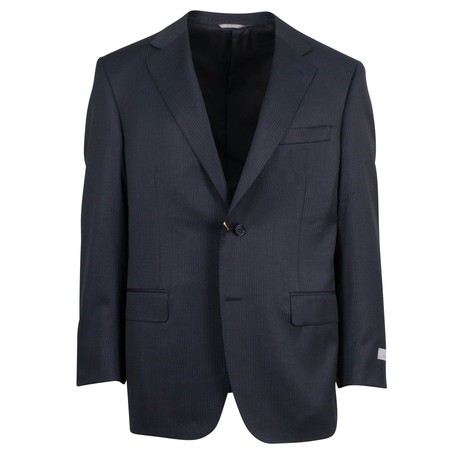 Canali // Myles Water Resistant Wool 2 Button Suit // Black (US: 46S)