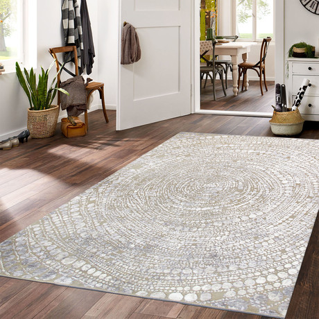 Cosmo Silk + Wool Area Rug // Beige I // 8' X 10'