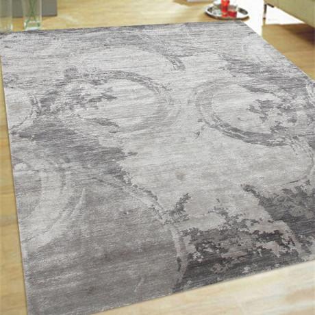 "Cosmo Bamboo Silk Area Rug // Grey I // 5' 6"" X 8' 6"""