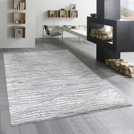 """Cosmo Bamboo Silk Area Rug // Silver III // 9' 3"""" X 11' 9"""""""