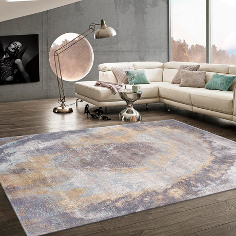 "Cosmo Silk + Wool Area Rug // Multicolor V // 8' 1"" X 10' 1"""