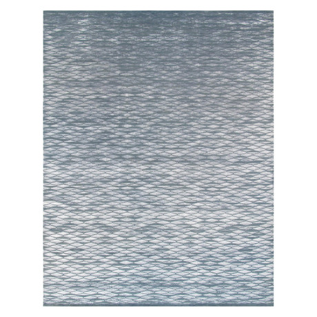 Cosmo Silk + Wool Area Rug // Blue // 2' X 2'10""