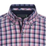 Cupped Shirt // Pink + Blue (2XL)