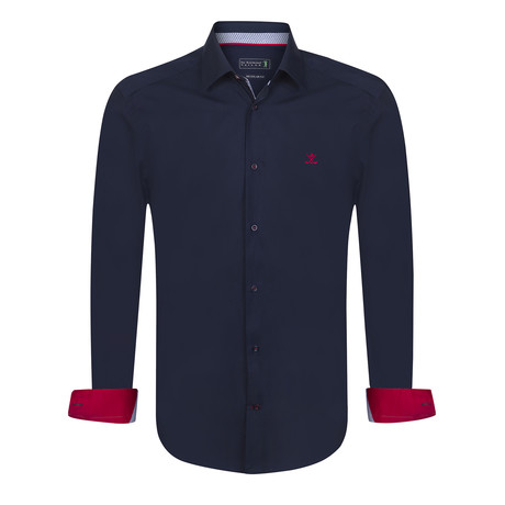 Concede Shirt // Navy (XS)