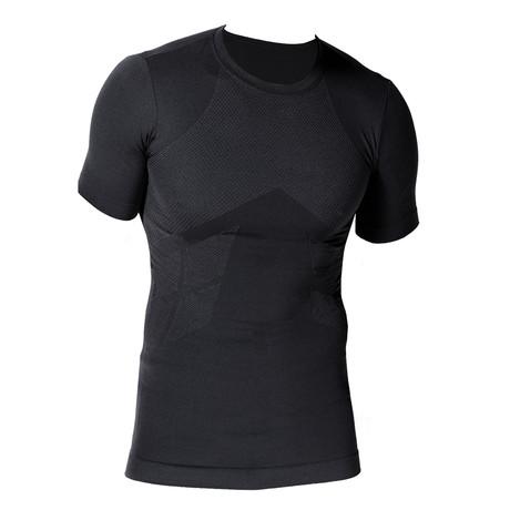 VivaSport // 4 Short Sleeve Fleece T-Shirt// Black (S/M)