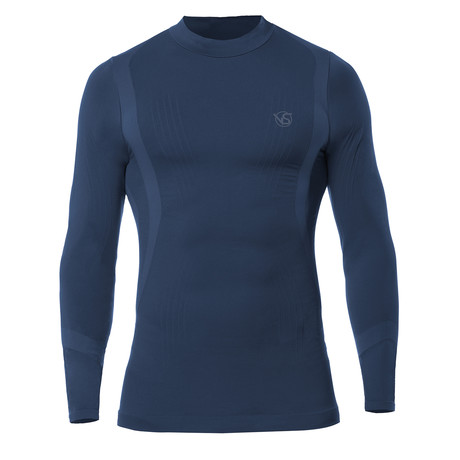 VivaSport // 5.0 Thermal Long Sleeve T-Shirt // Blue (S/M)