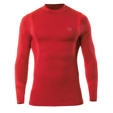 VivaSport // 5.0 Thermal Long Sleeve T-Shirt // Red (S/M)
