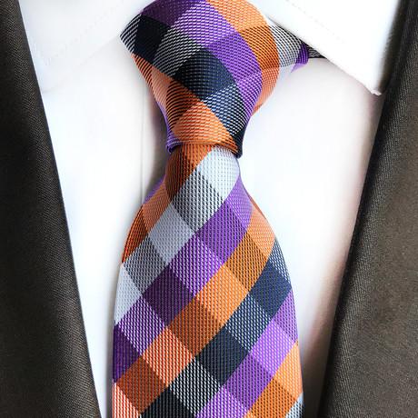Kramer Tie // Multicolor Cross Stripe