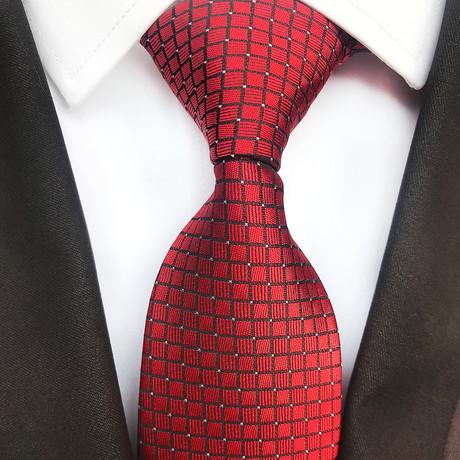 Kane Silk Tie // Red