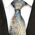 Thorne Tie // Light Blue + Tan