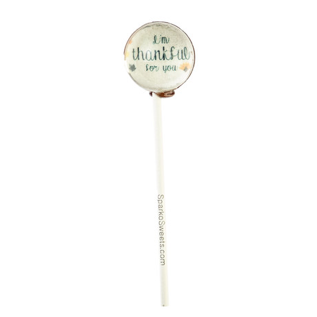 """I'm Thankful For You"" Lollipops // 10-Pieces"