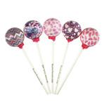 Pink Summer Pixel Lollipops // 10-Pieces