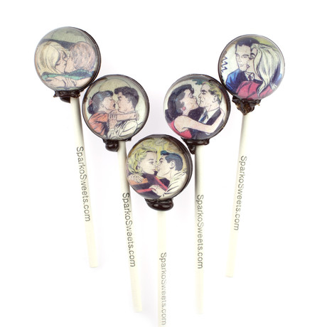 Vintage Kiss Comic Lollipops // 10-Pieces