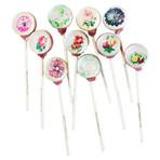 Vintage Flower Lollipops // 10-Pieces
