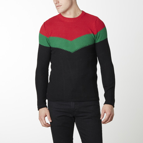 Victory Sweater // Black + Red (M)