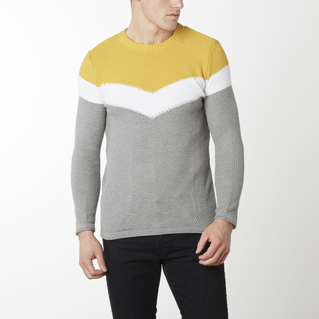 Victory Sweater // Grey Melange Yellow (M)
