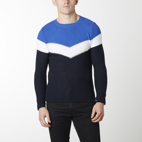 Victory Sweater // Navy + Sax (M)