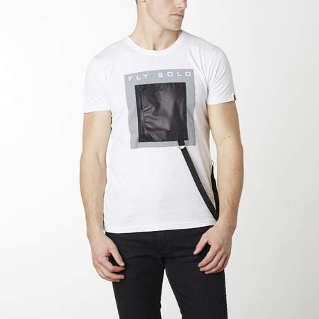 Fly Solo Zipper Strap Shirt // White (S)