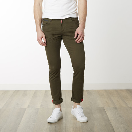 Milano Slim Fit Pants // Green (29WX32L)