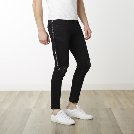 Milano Slim Fit Pants // Black + Black (29WX32L)