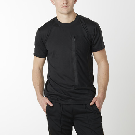 Tech Pack Cargo Pocket Tee // Black (S)