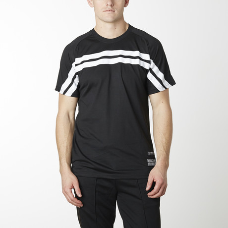 Rugby Striped Short Sleeve Tee // Black (S)