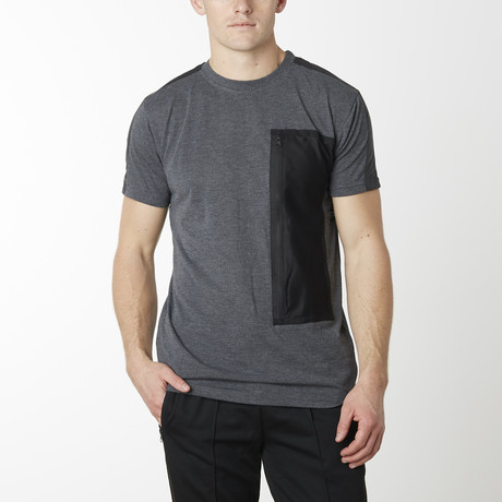 Tech Pack Cargo Pocket Tee // Charcoal (S)