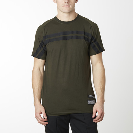 Rugby Striped Short Sleeve Tee // Olive (S)