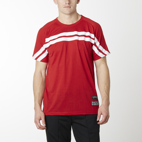 Rugby Striped Short Sleeve Tee // Red (S)