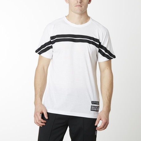 Rugby Striped Short Sleeve Tee // White (S)