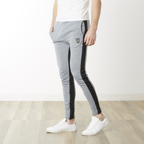Off Tech Fitted Jogger // Heather Gray + Black (S)