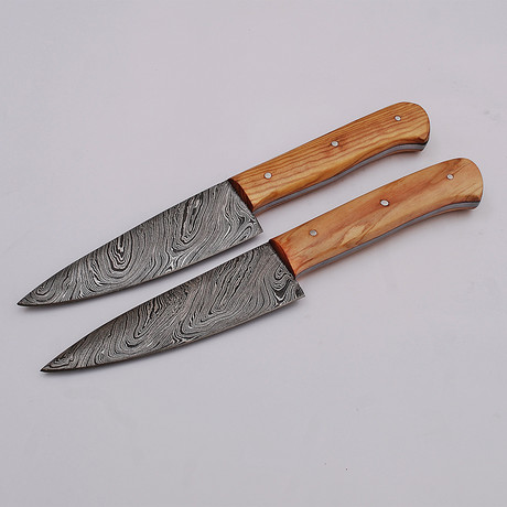 Damascus Steak Knives Set // 2 Piece Set