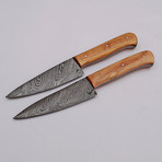 Damascus Steak Knives Set // 2 Piece Set