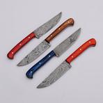 Damascus Steak Knives // 4 Piece Set // 9815