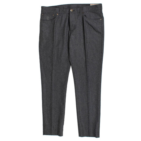 Brunello Cucinelli // Wool Flannel Five Pocket Jeans // Gray (44)
