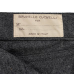 Brunello Cucinelli // Wool Flannel Five Pocket Jeans // Gray (54)