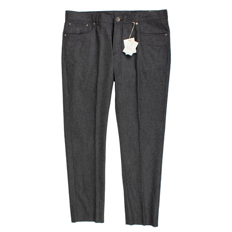 Brunello Cucinelli // Wool Five Pocket Jeans V1 // Gray (44)