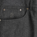 Brunello Cucinelli // Wool Five Pocket Jeans V // Gray (44)