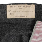 Brunello Cucinelli // Wool Five Pocket Jeans // Charcoal Gray (54)