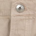 Brunello Cucinelli // Cotton Distressed Five Pocket Pants // Tan (44)