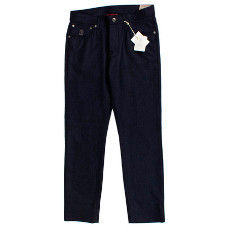 Brunello Cucinelli // Wool Five Pocket Jeans // Navy Blue (44)