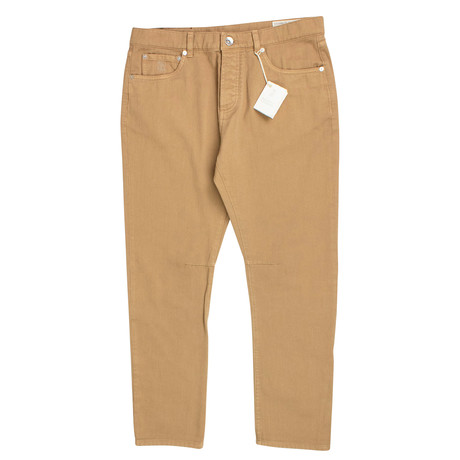Brunello Cucinelli // Cotton Denim Jeans // Tan (44)