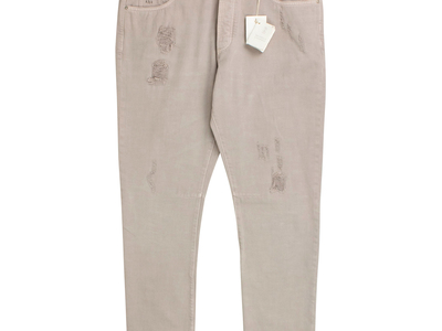 Photo of Designer Jeans Upscale Denim Brunello Cucinelli // Cotton Distressed Denim Jeans // Tan (50) by Touch Of Modern